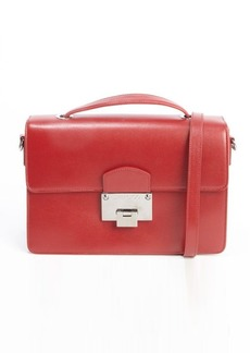 Jimmy Choo red leather 'Romy' convertible top handle shoulder bag