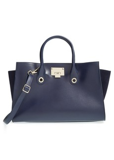 Jimmy Choo 'Riley' Leather & Suede Tote