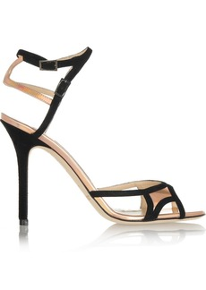 Jimmy Choo Rocks suede and holographic leather sandals