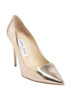 Jimmy Choo rose gold patent leather 'Avril' pointed toe pumps