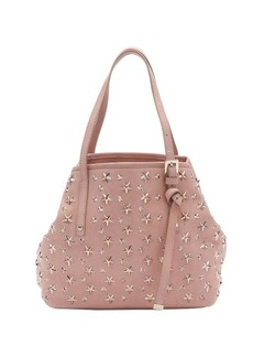 Jimmy Choo rose pink leather star studded small 'Sasha' tote