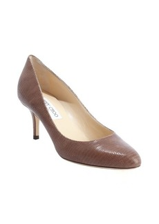 Jimmy Choo sand cracked desert leather pumps