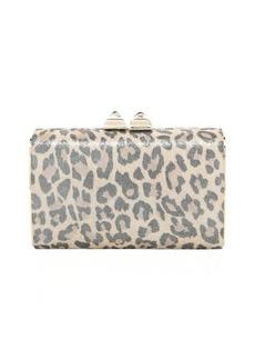 Jimmy Choo sand leopard print suede 'Mini Charm' clutch