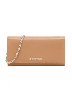 Jimmy Choo sandalwood leather 'Nikita' convertible continental wallet