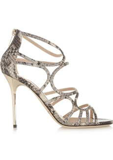 Jimmy Choo Sazerac snake-effect leather sandals