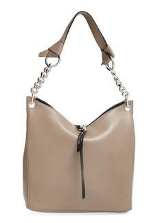Jimmy Choo 'Small Raven' Nappa Leather Shoulder Bag