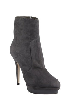 Jimmy Choo smoked suede patent platform 'Trait' ankle boots