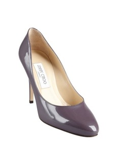 Jimmy Choo steel lavender patent eather tapered round toe 'Vikki' pumps