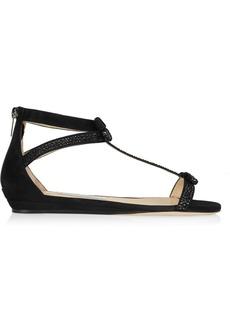 Jimmy Choo Sundown embellished suede sandals