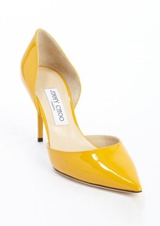 Jimmy Choo sunflower yellow patent leather 'Addison' pointed toe pumps