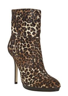 Jimmy Choo tan leopard calf hair 'Alanis' booties