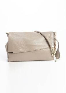 Jimmy Choo taupe leather padlock-strap 'Ally' shoulder bag