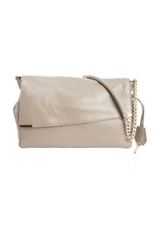 Jimmy Choo taupe leather padlock-strap 'Ally' shoulder bag