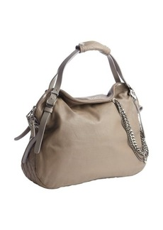 Jimmy Choo taupe quilted leather chain detail 'Blake' bag