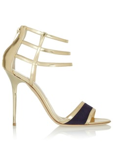 Jimmy Choo Tolka metallic leather sandals