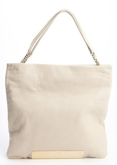 Jimmy Choo winter white leather 'Charlie' convertible tote