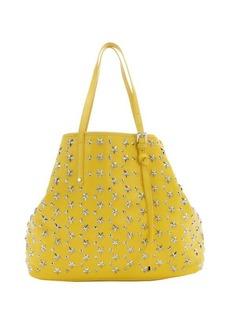 Jimmy Choo yellow leather star studded 'Sasha' medium tote