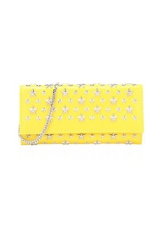 Jimmy Choo yellow star studded leather 'Milla' convertible clutch