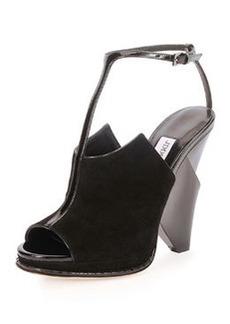 Kascade Suede T-Strap Wedge Sandal   Kascade Suede T-Strap Wedge Sandal