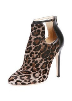 Luther Leopard-Print Cutout Calf Hair Bootie   Luther Leopard-Print Cutout Calf Hair Bootie