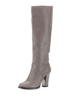 Marvel Leather Knee Boot, Light Quartz   Marvel Leather Knee Boot, Light Quartz