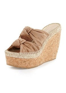 Priory Suede & Cork Wedge, Nude   Priory Suede & Cork Wedge, Nude