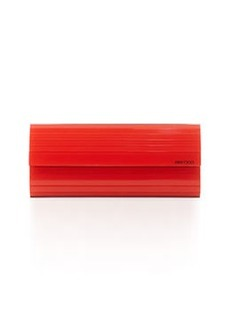 Jimmy Choo Sweetie Lacquered Acrylic Clutch Bag, Orange