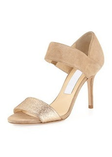 Tesoro Suede & Glitter Sandal, Nude   Tesoro Suede & Glitter Sandal, Nude