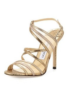 Visby Metallic Crisscross Sandal, Metallic Mix   Visby Metallic Crisscross Sandal, Metallic Mix