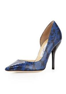 Willis Snake Half d'Orsay Pump, Blue   Willis Snake Half d'Orsay Pump, Blue