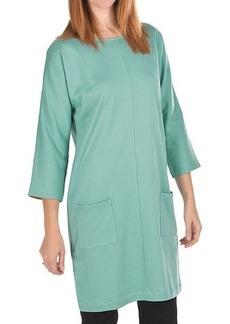 Joan Vass Back Button Dress - Cotton, 3/4 Sleeve (For Women)