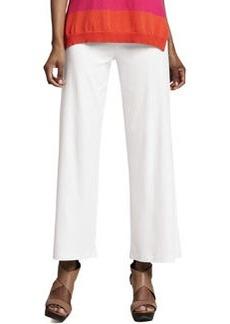 Joan Vass Casual Cotton Wide-Leg Pants