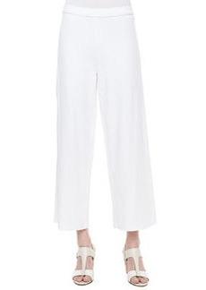Joan Vass Cotton Interlock Wide-Leg Pants