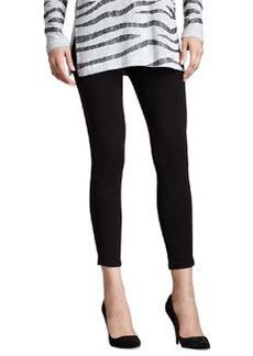 Joan Vass Cropped Jersey Leggings