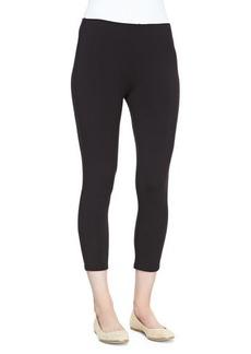 Joan Vass Cropped Stretch-Jersey Leggings, Black