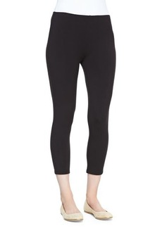 Joan Vass Cropped Stretch-Jersey Leggings, Black, Petite