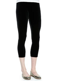 Joan Vass Cropped Velour Leggings