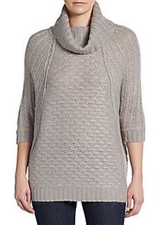 Joan Vass Dolman Turtleneck Sweater