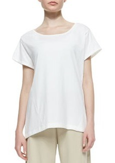 Joan Vass Easy Jersey One-Pocket Tee, Petite