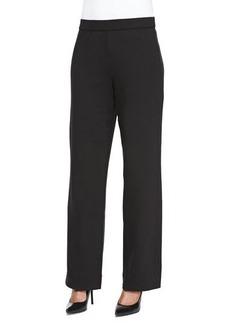 Joan Vass Full-Length Jog Pants, Black, Petite