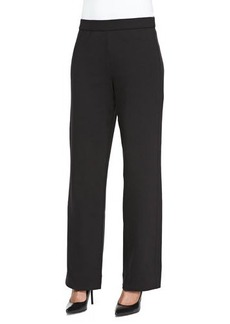 Joan Vass Full-Length Jog Pants, Black, Women's