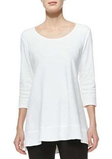 Joan Vass Interlock-Knit High-Low Tunic, Women's