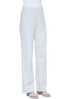 Joan Vass Interlock Stretch Pants, Women's
