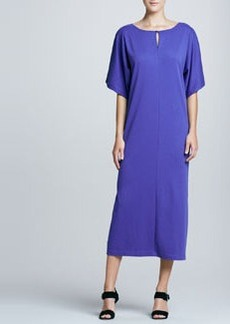 Joan Vass Keyhole-Detail Long Dolman Dress