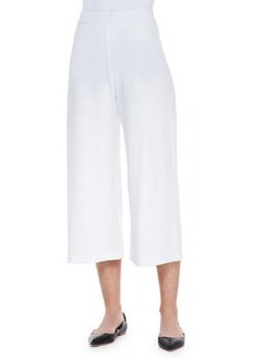 Joan Vass Knit Cropped Wide-Leg Pants, Women's