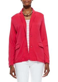 Joan Vass Knit Two-Button Jacket, Azalea, Women's