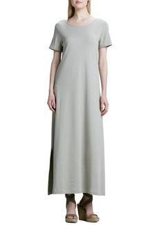 Joan Vass Long Cotton A-line Dress, Petite