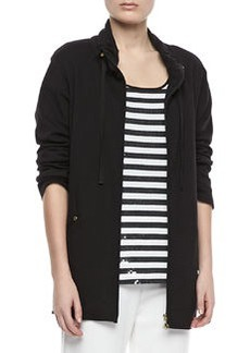 Joan Vass Long Jersey Jogging Jacket, Petite