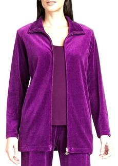 Joan Vass Long Velour Jacket, Women's
