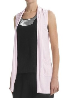 Joan Vass Long Vest with Pockets (For Women)